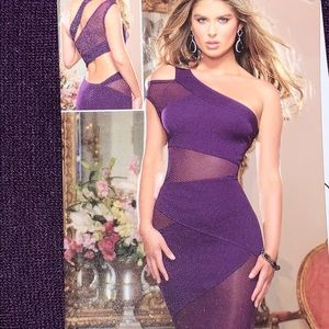 Dreamgirl cutout midi in Poshmark purple -sz Large